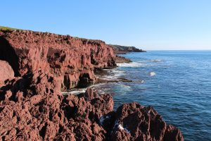 Red rock cliffs, Light to Light Walk