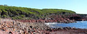Round rocks, red rocks, Light to Light Walk