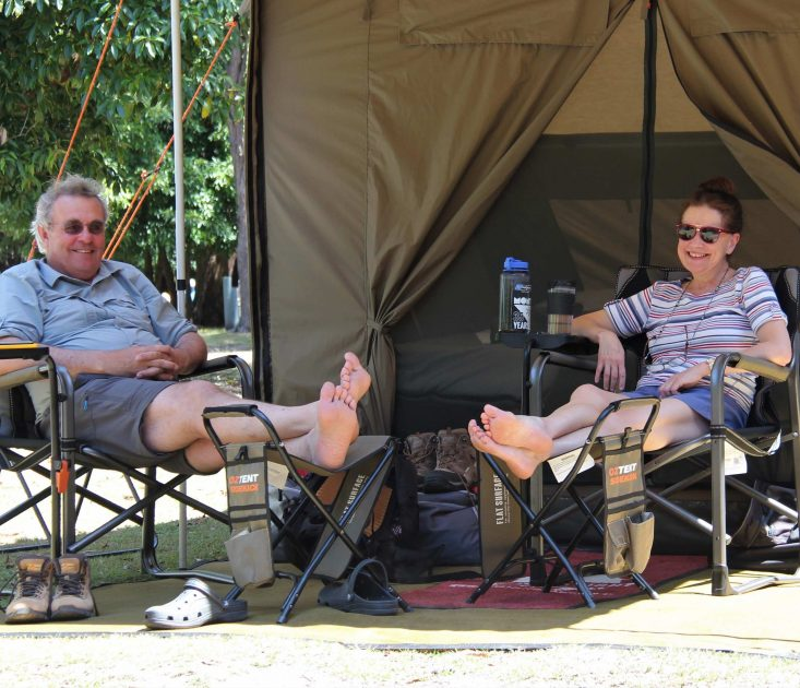 Light to Light Walkers relaxing in Camp